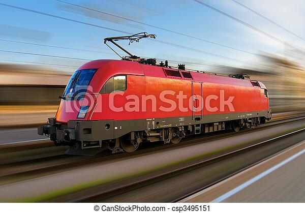 moderne, locomotive, européen, électrique - csp3495151