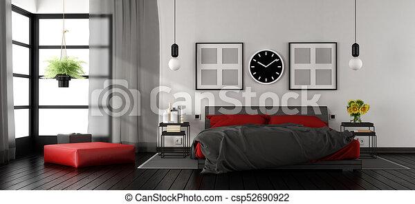 Agreable Moderne, Maître, Chambre À Coucher