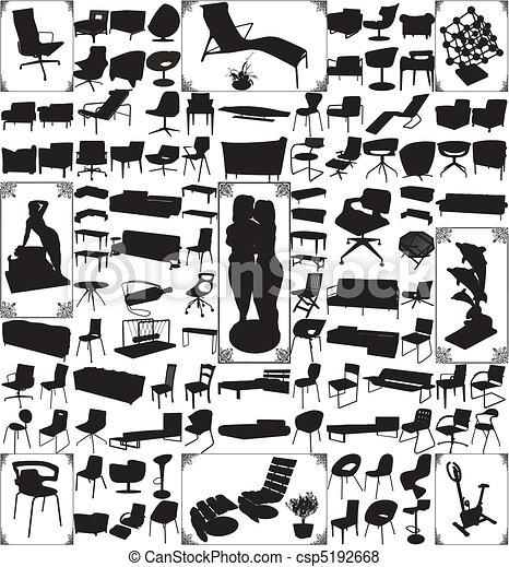 moderne, objets, meubles - csp5192668