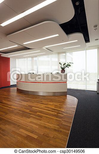 moderne, réception, bureau - csp30149506