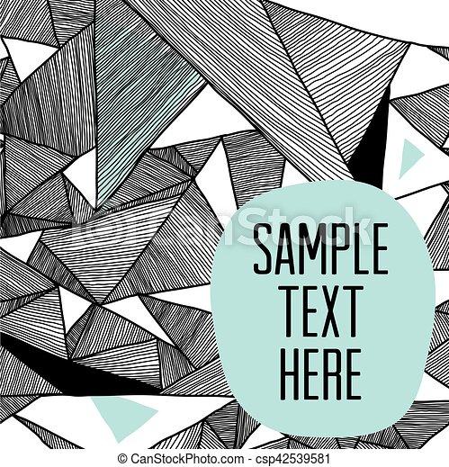 moderne, triangulaire, motifs, fond, géométrique, structural - csp42539581