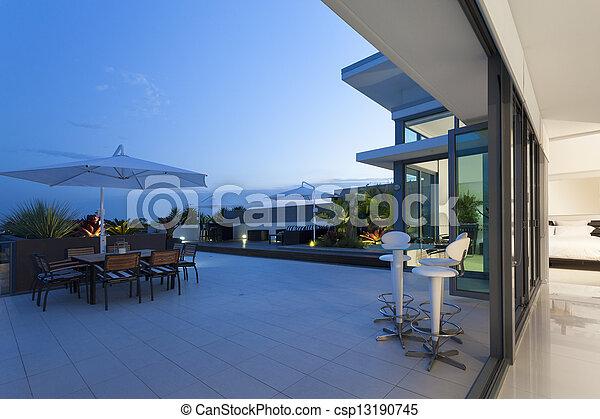moderno, balcone - csp13190745
