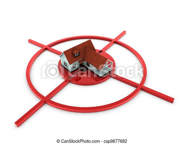 Casa moderna en el blanco - csp9677682