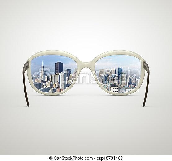 Ciudad moderna - csp18731463