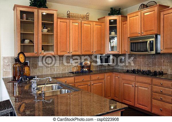 moderno, cocina - csp0223908