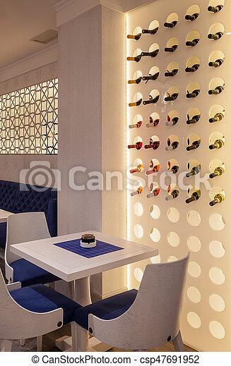 Restaurante de lujo moderno - csp47691952