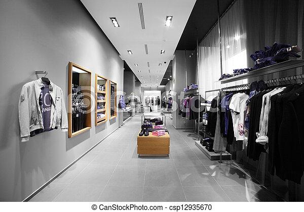 moderno, moda, tienda, ropa - csp12935670