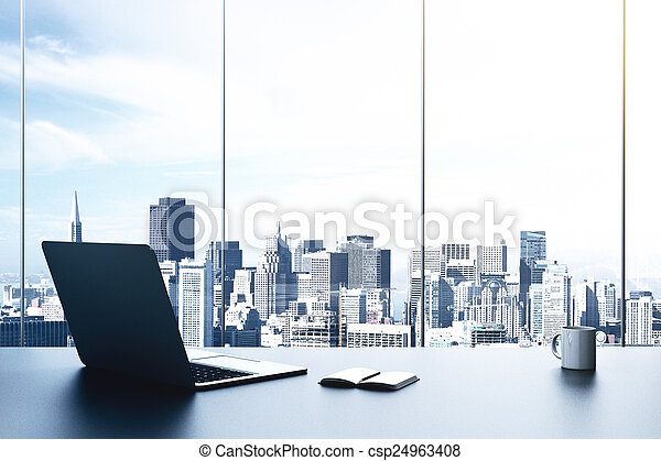 moderno, oficina - csp24963408
