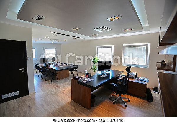 moderno, oficina - csp15076148