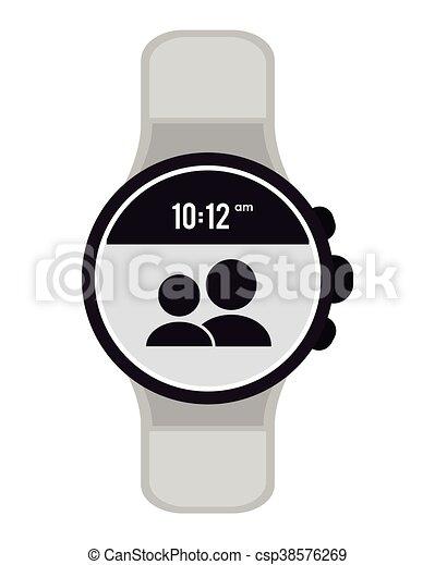 tienda de liquidación 7278f c23ec moderno, reloj, digital, icono