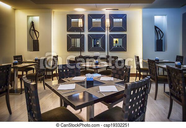 Restaurante moderno - csp19332251
