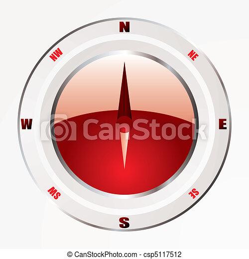 Una brújula roja moderna - csp5117512