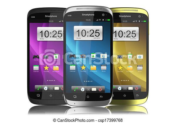Grupo de smartphones modernos - csp17399768