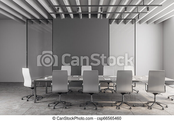 moderno, stanza riunione, copyspace - csp66565460