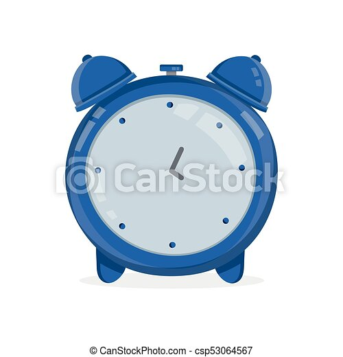 Reloj de alarma antiguo. Vector moderno - csp53064567