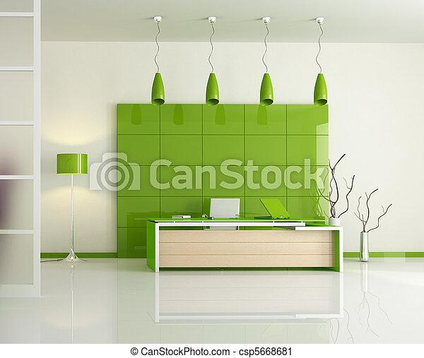 Moderno verde ufficio fotografia d 39 archivio cerca for Ufficio verde