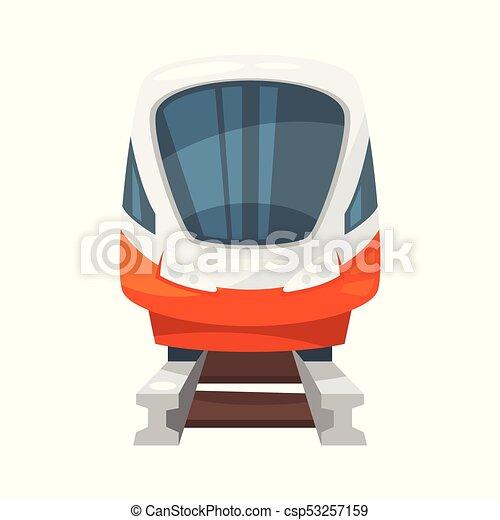 modernos, -, trem, frente, velocidade, vista - csp53257159