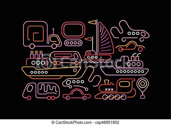 Modes of Transportation - csp48951802