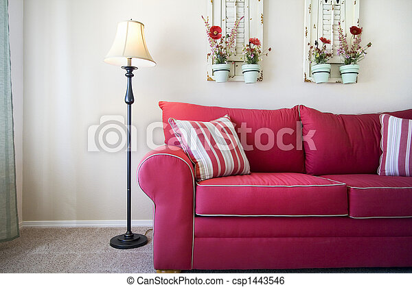 modieus, het dineren, moderne kamer - csp1443546