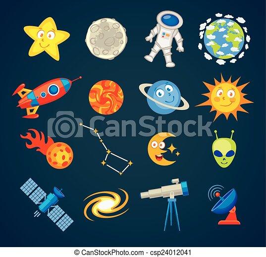 modny, astronomia, ikony - csp24012041