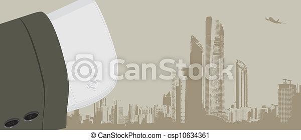 modny, cufflinks, szturchaniec, koszula - csp10634361