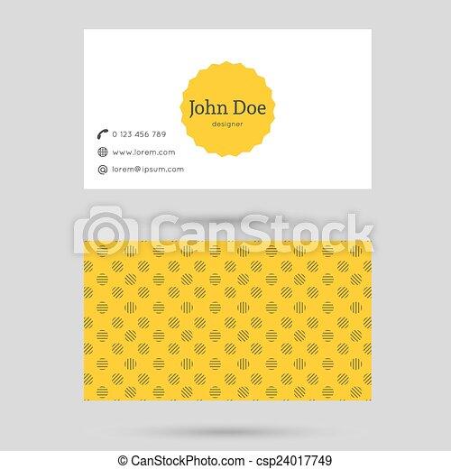 modny, handlowa karta, szablon - csp24017749