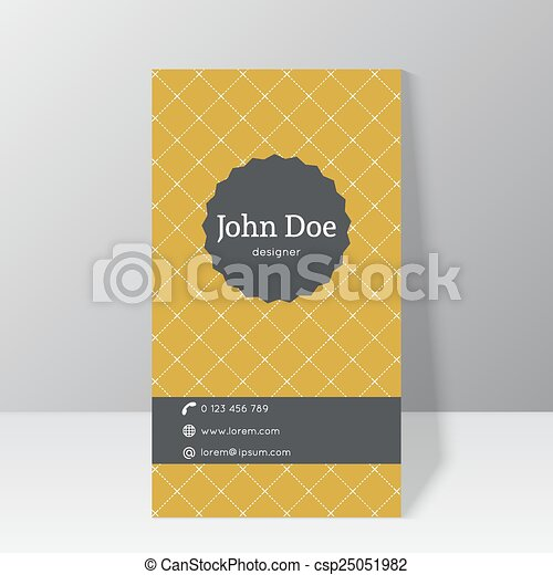 modny, handlowa karta, szablon - csp25051982