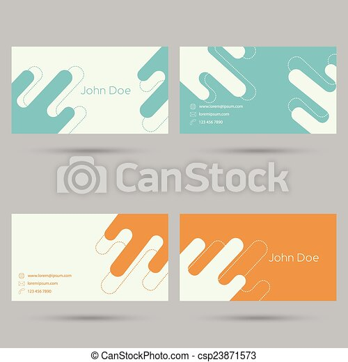 modny, handlowa karta, template. - csp23871573