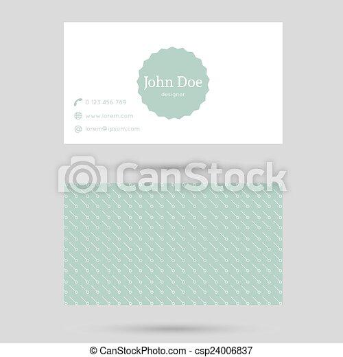 modny, karta, szablon, handlowy - csp24006837