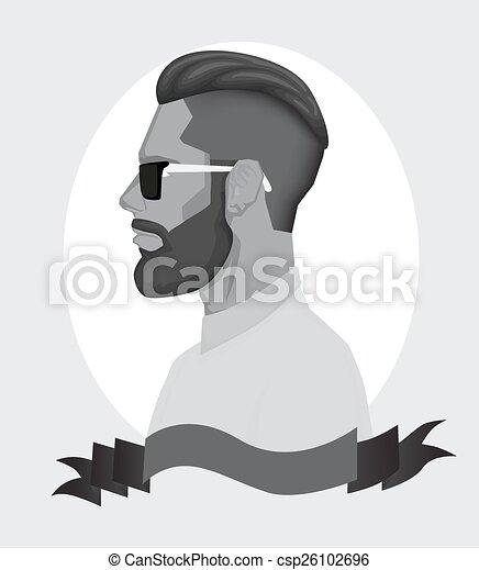 modny, mężczyźni, hipster - csp26102696