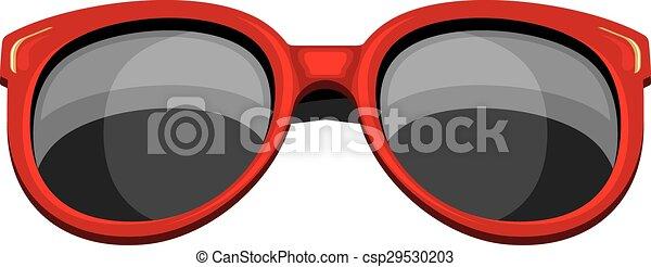 modny, sunglasses, czerwony - csp29530203