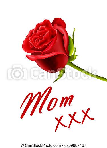Moeder Verjaardag.Moeder Jarig Of Kaart Dag Mamma Moeder Roos