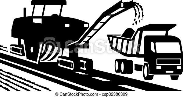 moendo, asfalto, maquinaria - csp32380309