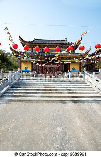 Templo chino en Moganshan - csp19689961