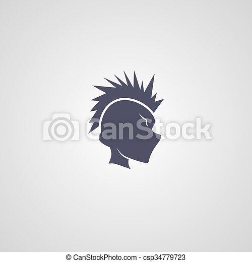 mohawk, facet, logotype - csp34779723