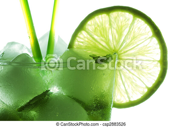 Mohito cocktail closeup - csp2883526