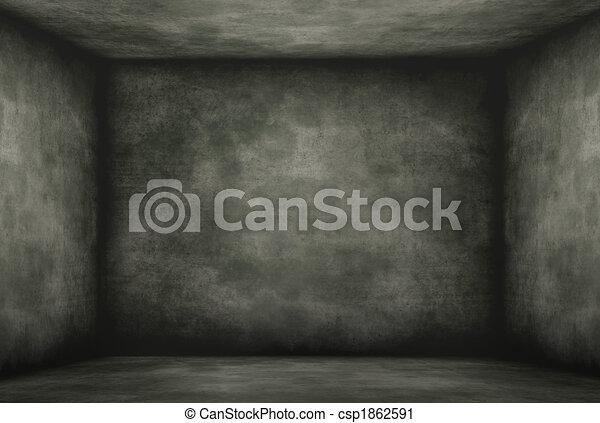 Mohoso, viejo, cuarto oscuro. Cuarto oscuro, viejo, pared ...