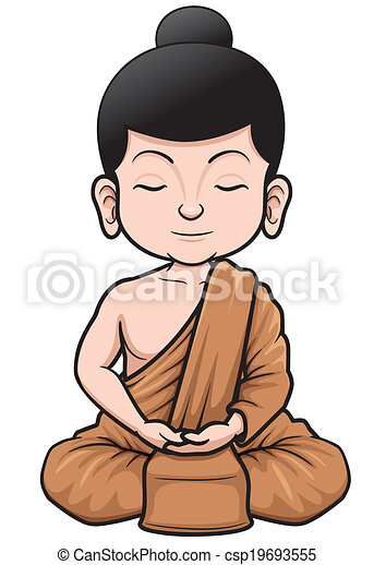 moine bouddhiste - csp19693555