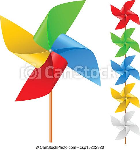 moinho de vento, brinquedo - csp15222320