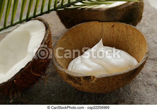 moisturizer, 自然, ココナッツ, クリーム - csp22256969