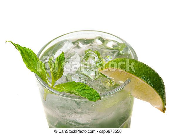 mojito, closeup, cocktail - csp6673558