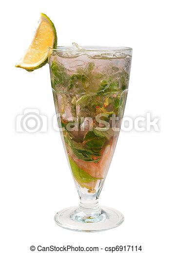 mojito, closeup, cocktail - csp6917114