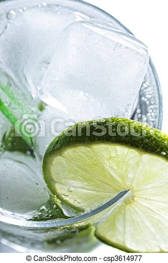 mojito, cocktail, au-dessus, vue - csp3614977