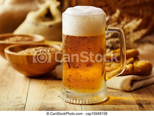 mok, bier - csp15948158