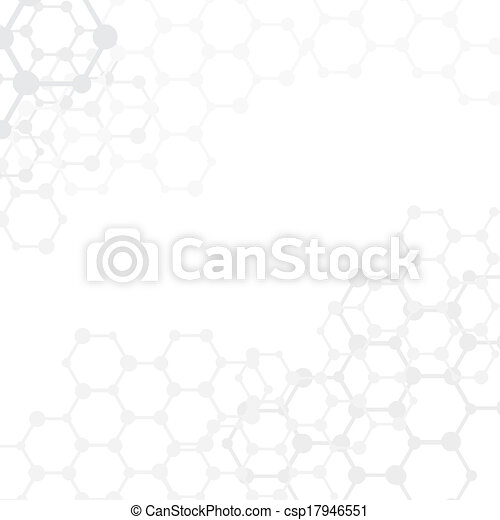 moléculas, (vector), espaço, abstratos, fundo, cópia, médico - csp17946551