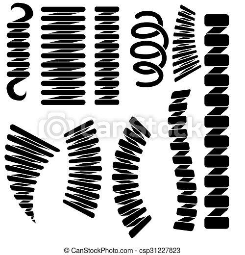 Suficiente Molas, silhuetas, jogo. Jogo, isolado, silhuetas, fundo, clip  US08