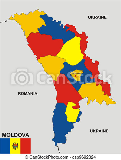 Moldova map Very big size moldova political map with flag drawing