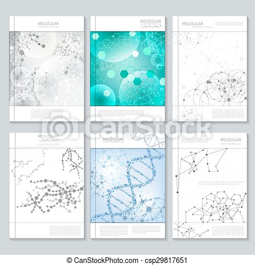 Molecular Structure Brochure Or Report Templates For Business