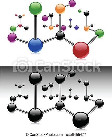 Farbmolekül - csp6455477