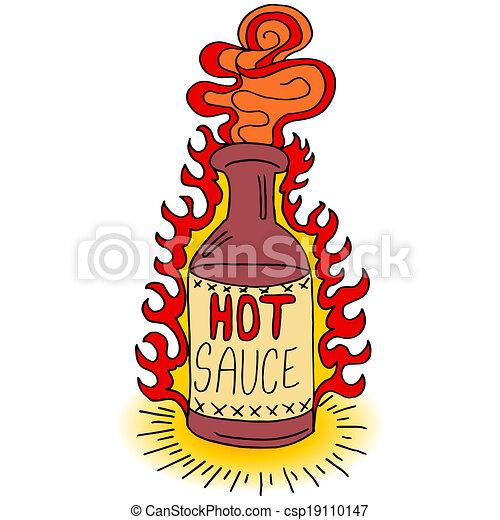 molho quente, garrafa - csp19110147